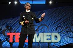 U.S. Surgeon General Vivek Murthy speaking at TEDMED 2015.