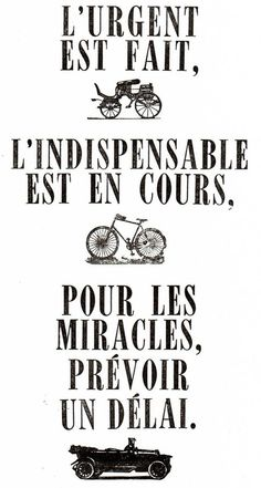 Urgent, indispensable et miracles