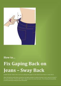 When you sit down and the jeans gap at the back, it is so annoying.  There is a really easy way to fix this.