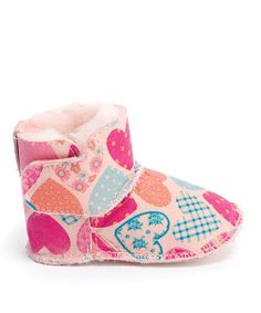 Take a look at this EMU Australia Pink Hearts Baby Boot by EMU Australia on #zulily today!