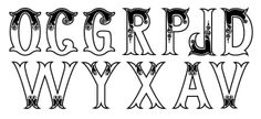 Tipografía inspirada en el fileteado porteño.