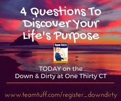 Do you ever wondering if you are truly living out your purpose? Or, have you lost your purpose completely and need a wake up call to get you back on track?  If that's you, then today's hangout is for you... 4 Questions To Discover Your Life's Purpose.   Register here:
