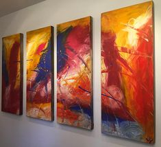 """'April013'- 48""""x30"""" Original Abstract Painting $159.99 www.lulusgallery.com"""
