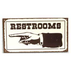 Large 24 Quot Vintage Style Wooden Restroom Finger Left