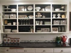 great open shelf design
