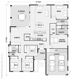 Denah Rumah 720787115337169922 - House Plans, Home Designs, Building Prices & Builders — Connecting Customers & Builders Source by laurentsussot New House Plans, Dream House Plans, Small House Plans, House Floor Plans, The Plan, How To Plan, Building Plans, Building A House, Home Design Floor Plans