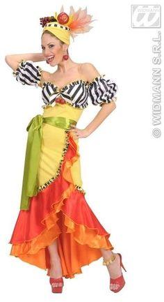 Brazil-carmen Miranda - - - by Widmann - Carmen Miranda Brazilian Samba Singer and Actress Most Havana Nights Dress, Havana Nights Party, Perfect Prom Dress, Fancy Dress, Dress Up, Carmen Miranda Kostüm, Brazil Costume, Costume Hippie, Cow Girl