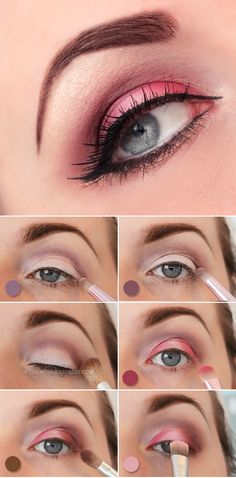 Try this dramatic and flirty pink Valentine's day makeup tutorial for a more glamorous look on that special day.
