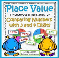 Four fun games for using place value to compare three digit and four digit numbers. $