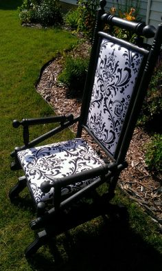 I was so interested in this antique rocking chair. It is on springs and rocks so slow and smooth. I picked this up along with my china cabi. Old Rocking Chairs, Rocking Chair Makeover, Vintage Rocking Chair, Glider Rocking Chair, Old Chairs, Vintage Chairs, Desk Chairs, Funky Painted Furniture, Painted Chairs