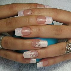 Nails Long French Art Designs New Ideas Get Nails, Love Nails, Pretty Nails, Hair And Nails, French Nails, Nails Today, Pink Ombre Nails, Nagel Hacks, Cute Nail Art