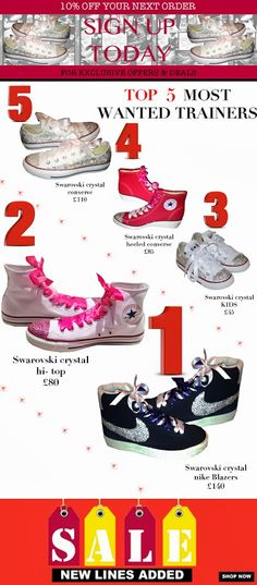Top 5 Must Have Styles + 10% off order!!! http://www.gulserensboutique.co.uk/   #FACEBOOK   #SWAROVSKI   #crystal      #custom  #cute #love #fashion #girl    #handmade     #istagood   #photooftheday   #photooftheweek   #photoofthemonth   #style   #fashion  #pink    #facebook   #summer   #NIKE   #nikeblazers   #nikes   #green      #fashionstyle   #sale  #deal  #googleplus  #customamde  #buylocal   #buyitsellitswapit   #buying   #uggs   #flipflops   #vans   #converse