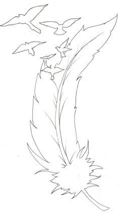Les oiseaux d'un tatouage de plume par ~ Metacharis sur deviantART 924