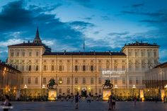 Palazzo Reale in Piazza Castello, Turin | Torino, Italy | #stockphotos #gettyimages #print #travel