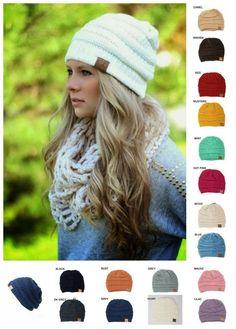 3b98e36d4dfc1 New Womens Knit Slouchy Beanie CC Oversized Thick Cap Hat Unisex Slouch  CC   Beanie