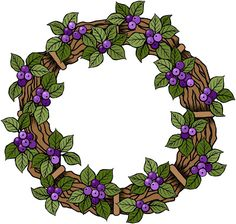 Beccy's Place - Berry Wreath Freebie
