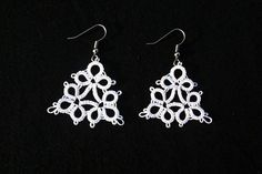 earrings bridal earrings wedding earrings lace by MamaTats on Etsy