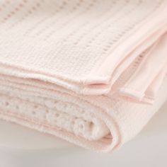Satin-Edged Cellular Blanket - Pink | The White Company