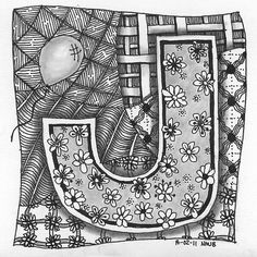 Tangle 012 | 14-02-11 Personalised leaving card topper Yincu… | Flickr