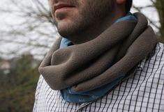 Col snood coton polaire Laissez Lucie Faire, Techniques Couture, Rings For Men, Men Sweater, Sewing, Sweaters, Position, Bonnets, Ainsi