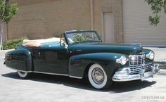 1948 Lincoln Continental Convertible.