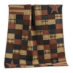 Patriotic Patch Quilted Throw – Primitive Star Quilt Shop