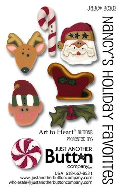 ButtonArtMuseum.com - Just Another Button Company (JABC) makes polymer clay buttons by hand to use as embellishment on quilts, needlework and crafts of all kinds