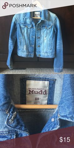 Mudd Jean jacket Youth girls size XS Jean jacket, new without tags, never worn. Mudd Jackets & Coats Jean Jackets