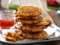 Vegan Gluten Free Crispy Firecracker Corn Fritters