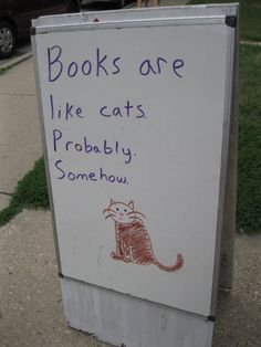 Books are like cats?