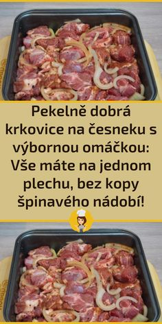 Meat Recipes, Recipies, Cooking Recipes, Healthy Recipes, Czech Recipes, Sausage, Good Food, Goodies, Food And Drink
