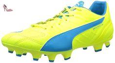 Puma Evopower 1 3 FG - Chaussures de Football - Homme - Multicolore (Safety Yellow/Black/Atomic Blue) - 47 EU (12 UK) ixtzuOp