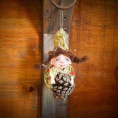 Baby Gnome - Elf - Art Doll - Fantasy Doll - Porcelain Doll - Gnome - Baby - Doll - Fantasy - Whimsical - OOAK Doll - Woodland Elf - Fairy by Rustiikkitupa on Etsy