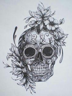 Painted skull idea