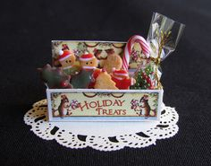 Holiday treats #miniature #christmas #cookies