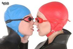 Rubber Swim Cap With Chinstrap