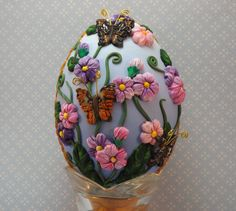 Colorful Floral Polymer Clay Covered Real by PolymerClayCreations, $88.00