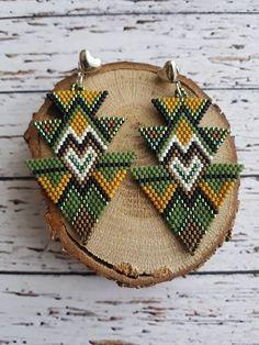 Green Earrings, Miyuki Bead Earrings, Jewelry, Desing Earrings, Hand Labor Earrings,Gothic Earrings Beaded Earrings Patterns, Beaded Tassel Earrings, Seed Bead Earrings, Diy Earrings, Pearl Earrings, Gothic Earrings, Brick Stitch Earrings, Green Earrings, Jewelry Making