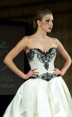#Model Elizabeth Lestina at #Couture Week's Final Masquerade. #fashionshow #bridal #fashion