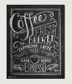 Este diseño fue inspirado en mi historia de amor con café! Sería una adición hermosa a su decoración de la cocina o un regalo perfecto para un amante