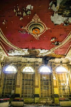 Ballhaus Grünau - Abandoned Ballroom - Berlin. [Follow https://www.pinterest.com/deyzel/group-abandoned-ghost-towns-structures/ for more]