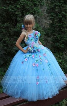 2016 Sweet Appliques Ball Gown Flower Girl Dresses Tulle Floor-Length Girls Pageant Dresses First Communion Dresses For Girls Pageant Dresses, Ball Dresses, Cute Dresses, Beautiful Dresses, Ball Gowns, Flower Girls, Tulle Flower Girl, Flower Girl Dresses, Princess Tutu Dresses