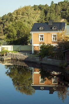Porvoo by Coasta Lie on Finland Helsinki, Scenery, House Styles, Water, Home Decor, Home, Gripe Water, Decoration Home, Landscape