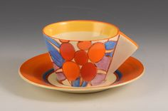 Andrew Muir | Clarice Cliff, Art Deco Pottery, Moorcroft and 20th Century Ceramics Dealerclarice cliff BERRIES CONICAL CUP & SAUCER C