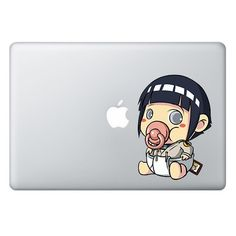 SIZE The PACIFIER SERIES Macbook/Laptop Decals are 4 inches (10.16 cm) wide and the length depends on the character. Please check the SAMPLE IMAGE below for an idea on how the decal will look on diffe