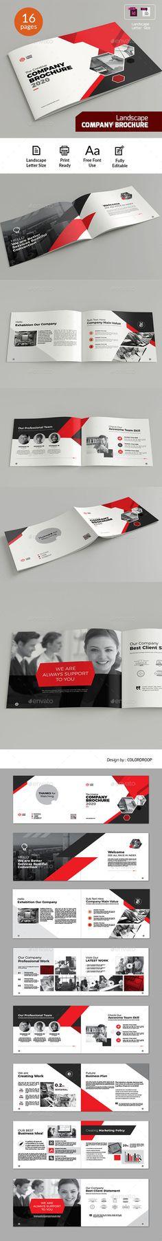 Landscape Company Brochure Template InDesign INDD - Letter Size