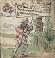 Title: Goliath (MS Germ.Quart.2020), Page: Folio 2r, Date: 1510-1520