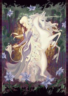The Last Unicorn was my favorite movie as a little girl. Lady Amalthea by ~StellaB on deviantART [beautiful unicorn.. <3]