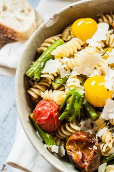 Grilled Tomato and Broccoli Pasta Salad with Balsamic Vinaigrette - my new favorite pasta salad!