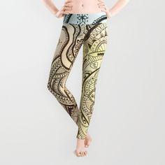 Mandala Leggings by sandybro Mandala, Stockings, Pants, Stuff To Buy, Fashion, Socks, Trouser Pants, Moda, Trousers
